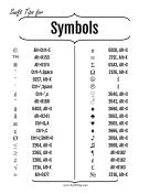 How to Make Common Symbols