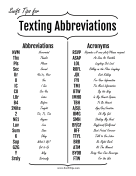 Common Texting Abbreviations