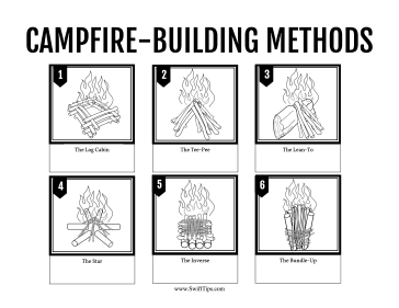 Campfire Methods Printable Board Game