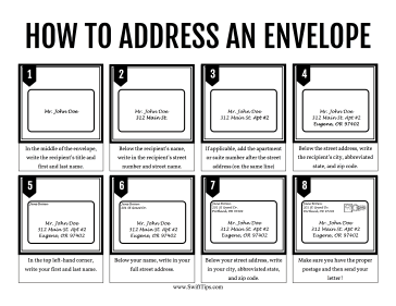 How to Address an Envelope Printable Board Game