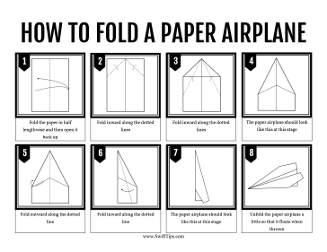 photo relating to Printable Paper Airplanes titled How in direction of Fold a Paper Plane