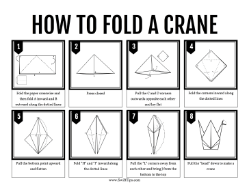 How to Fold an Origami Paper Crane Printable Board Game