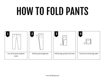 How to Fold Pants Printable Board Game