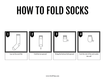 How to Fold Socks Printable Board Game