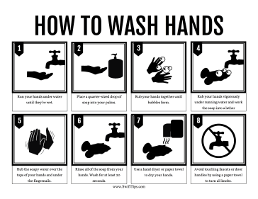 How to Wash Hands Printable Board Game
