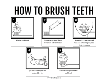 How to Clean Teeth Printable Board Game