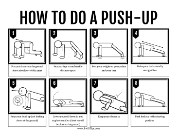 How to Do a Push-Up Printable Board Game