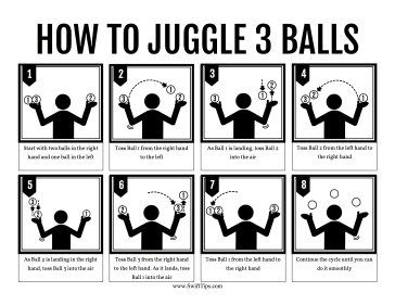 How to Juggle Three Balls Printable Board Game