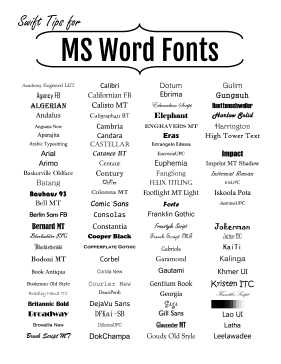 image regarding Fonts Printable identified as Microsoft Term Fonts