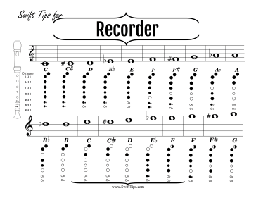 Recorder Fingering Chart Printable Board Game