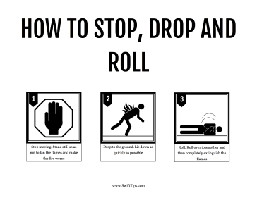 How to Stop Drop and Roll Printable Board Game
